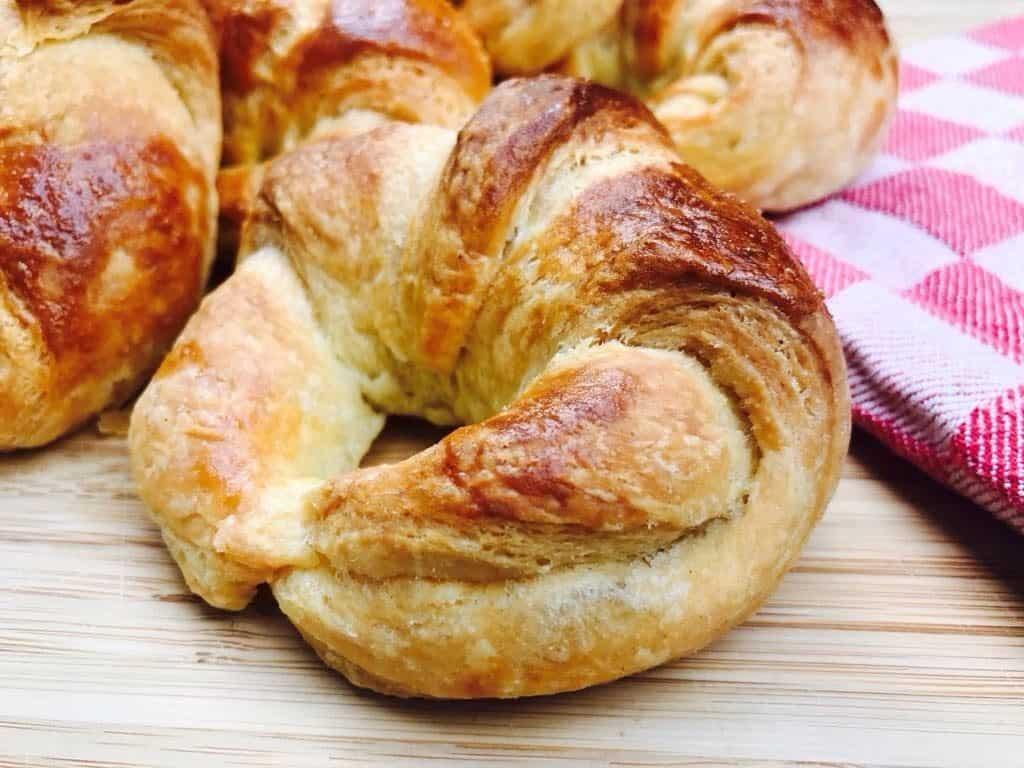 croissant made in Panasonic bread maker