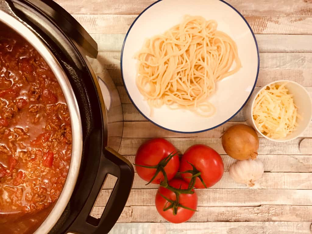 Spaghetti Bolognese in Instant Pot