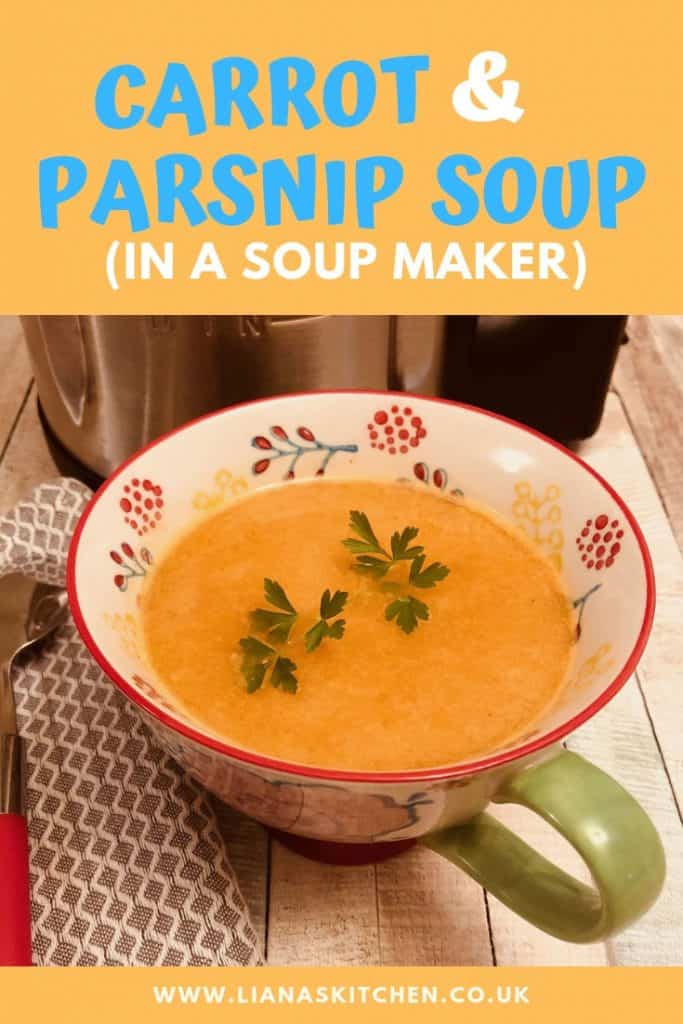carrot and parsnip soup in a soup maker