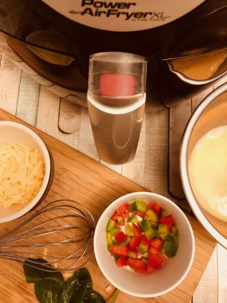 ingredients for air fryer breakfast frittata