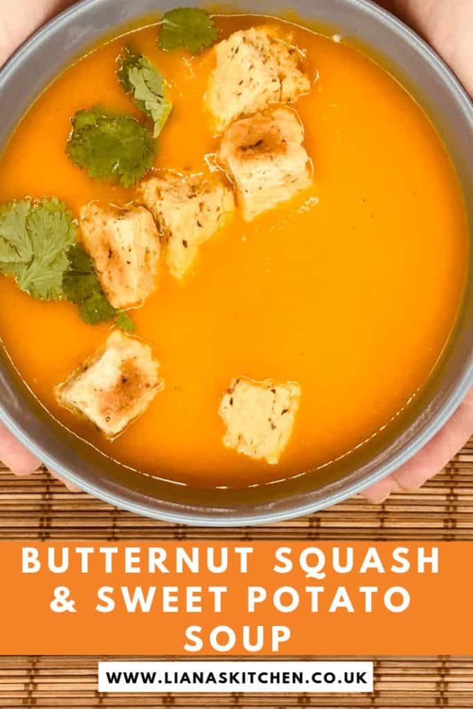 butternut squash and sweet potato soup in a soup maker
