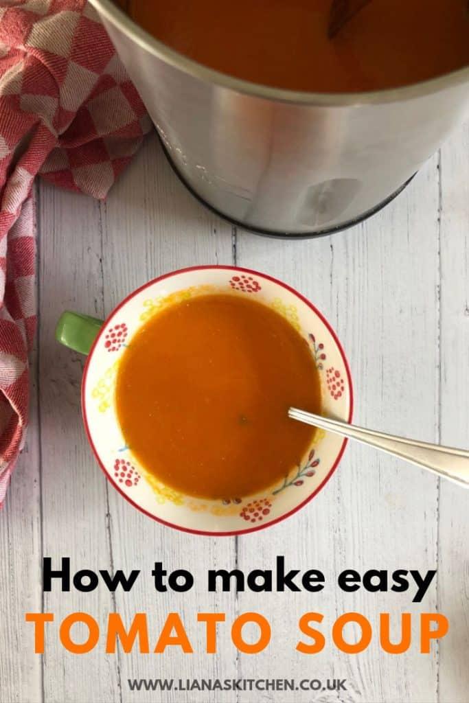 tomato soup in a soup maker