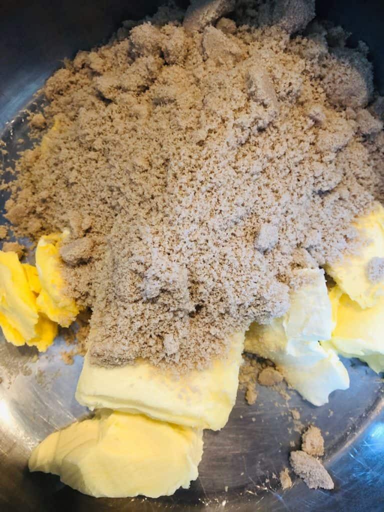 butter and sugar in saucepan