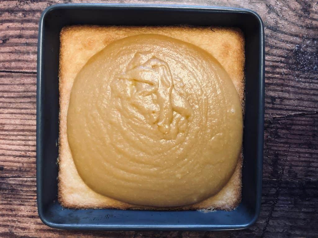 caramel on shortbread biscuit base