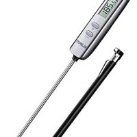 Meat Thermometer, TOPELEK Cooking Thermometer, Digital Instant Read Food Thermometer, 5.5'' Long Probe, Auto Off, °F/°C, Best Kitchen Thermometer for Meat, Turkey, Sugar, Milk, Water, Jam, BBQ, etc