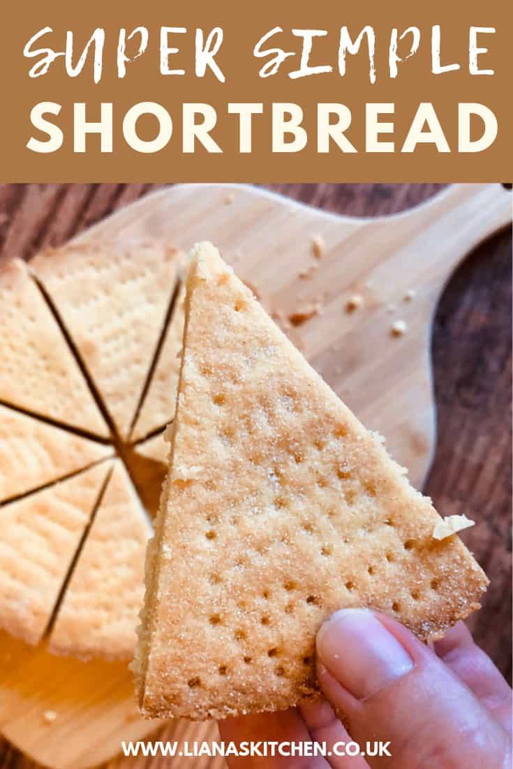Shortbread cut up into slices