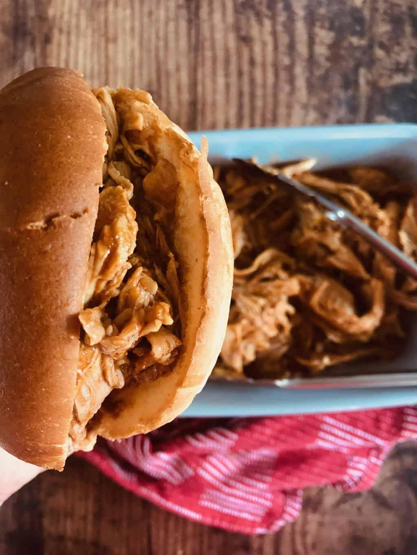 pulled pork brioche bun