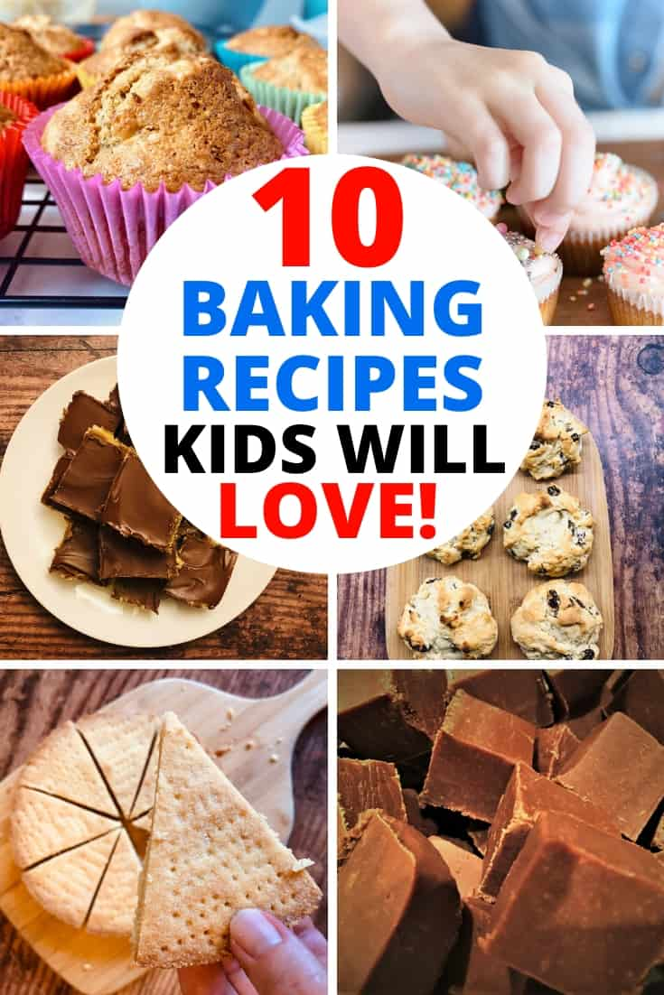 collection of 10 baking recipes for kids