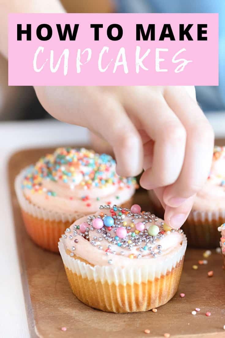 decorating cupcakes with sprinkles