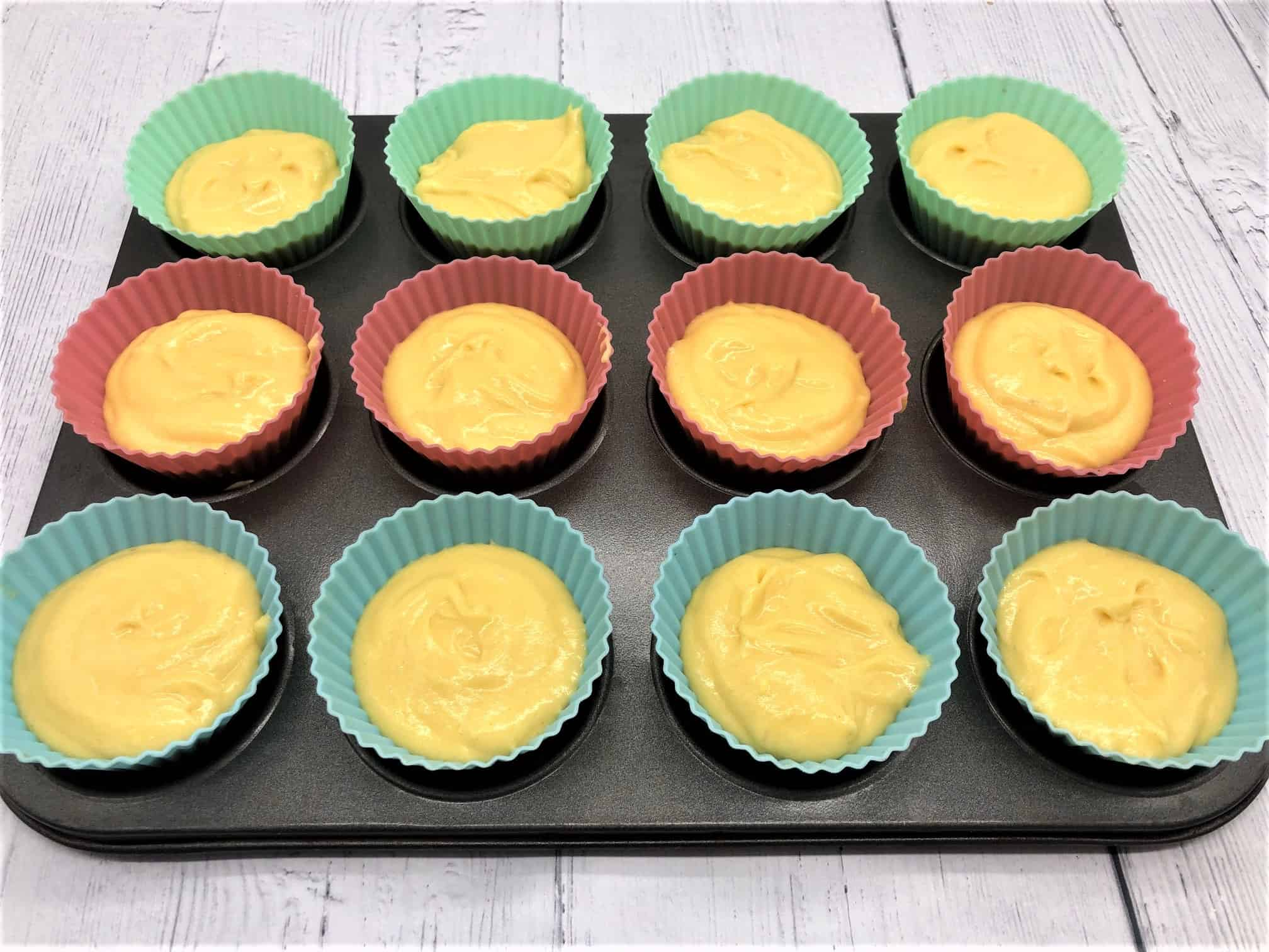 filling cupcake cases