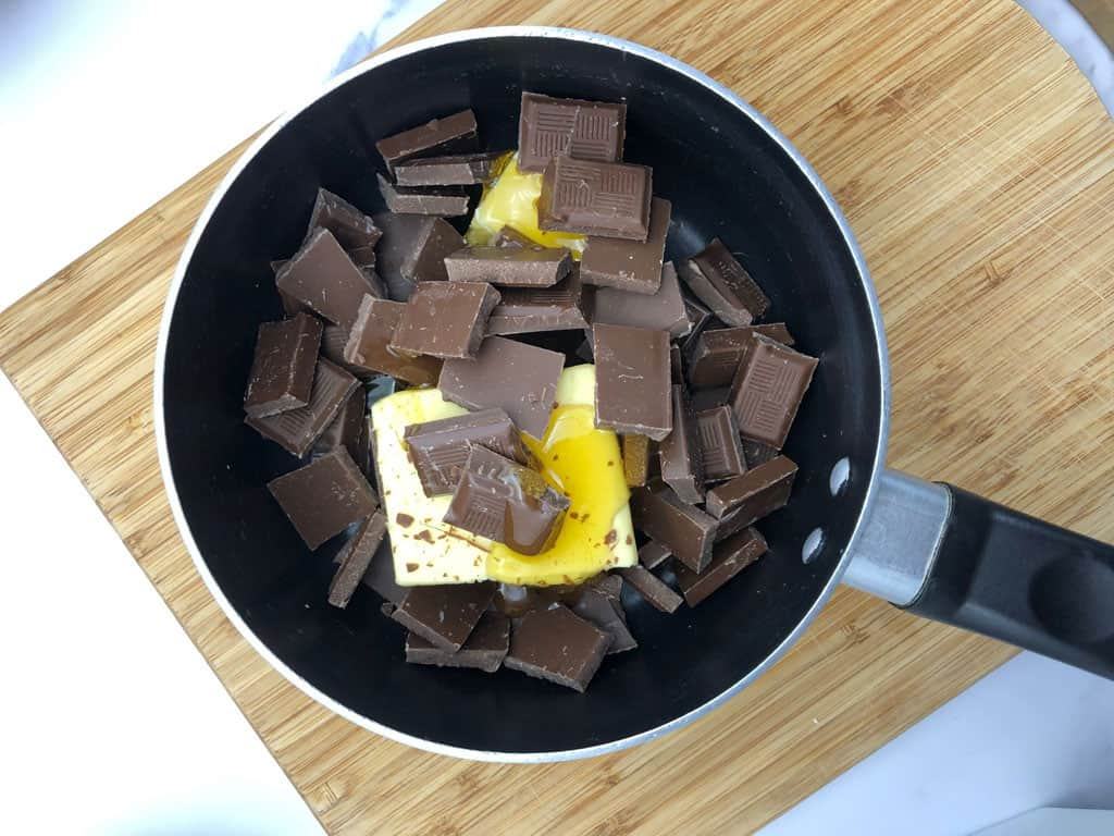 melting chocolate for rocky road