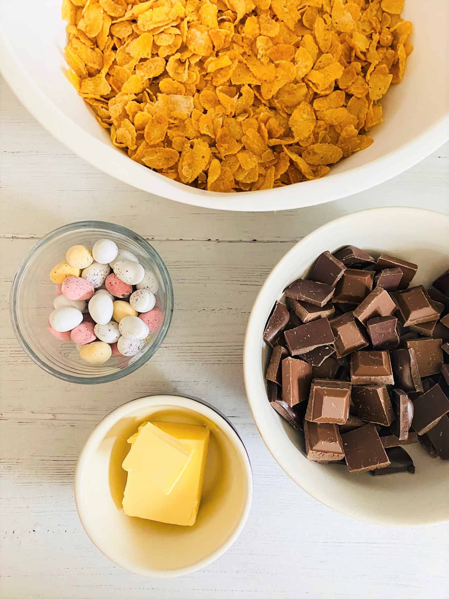 ingredients for chocolate cornflake cake