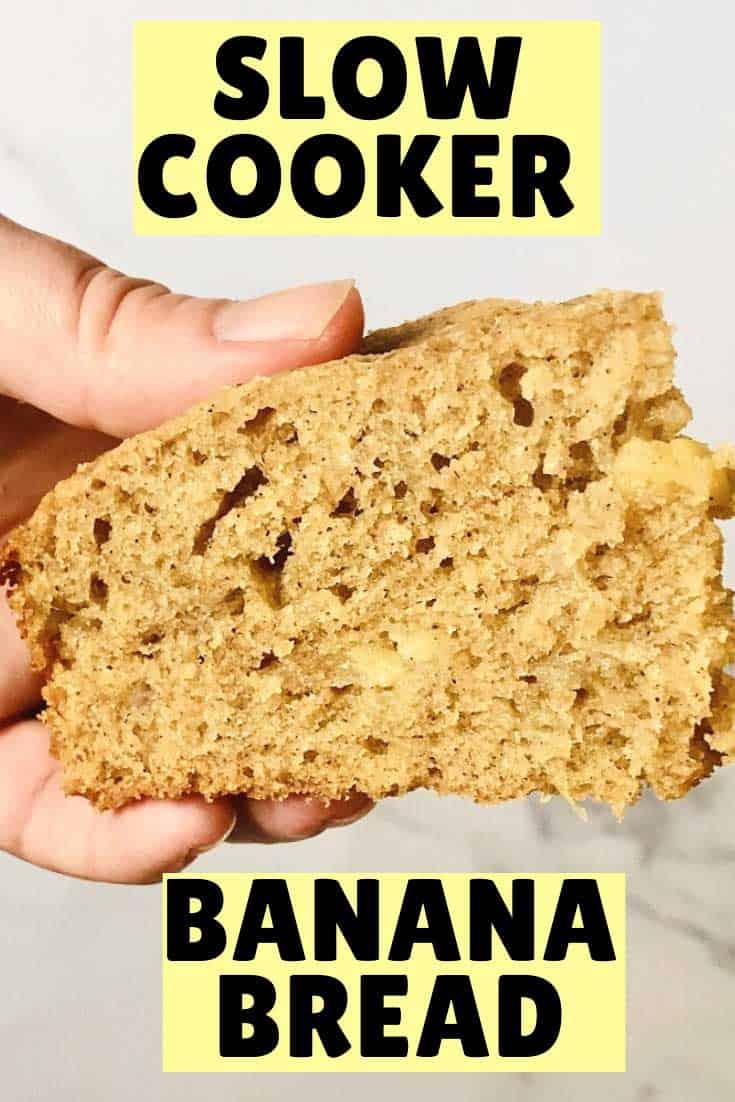 easy slow cooker banana bread