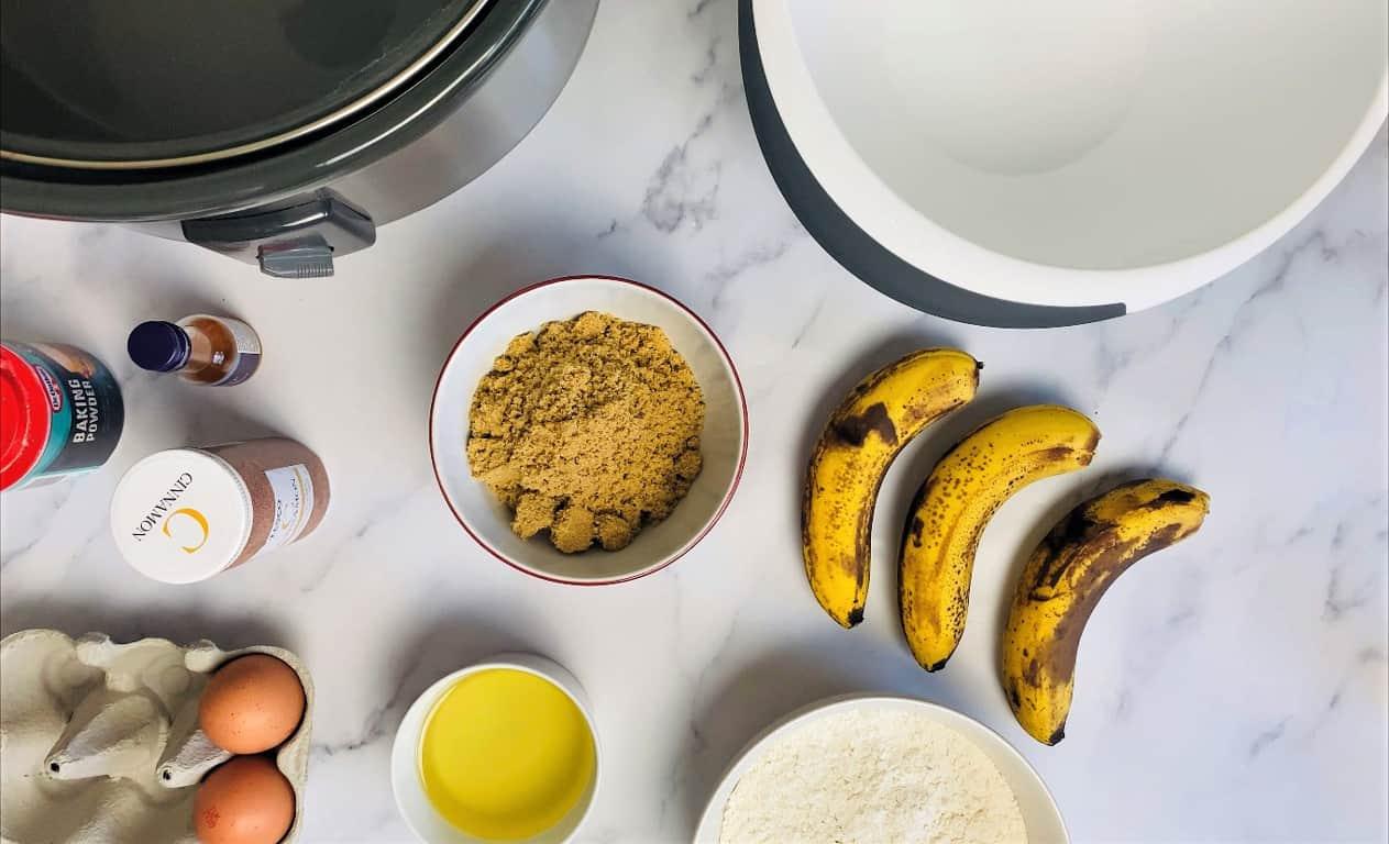 ingredients for slow cooker banana bread