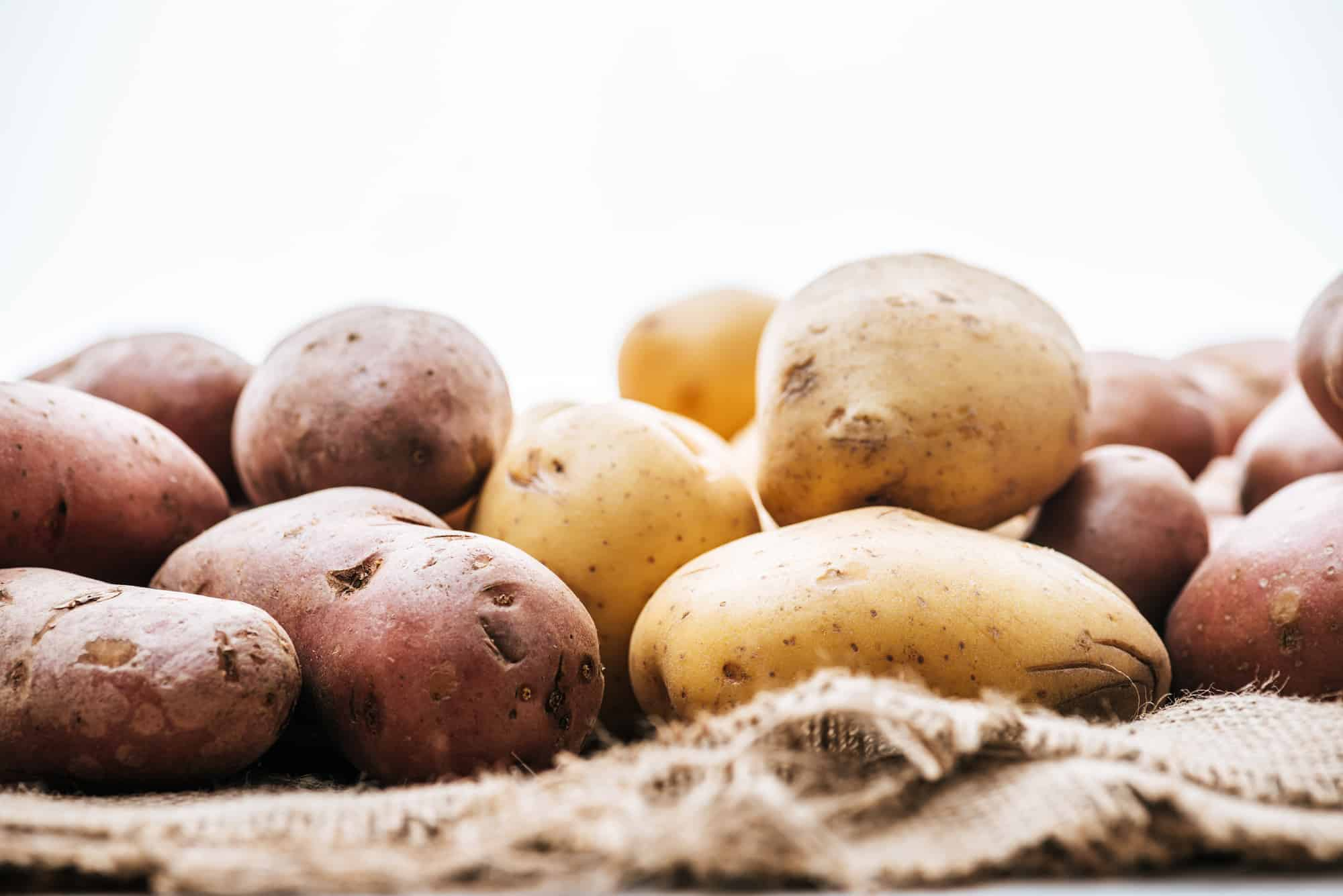 storing potatoes in a sack