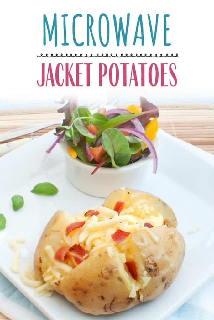 cooked jacket potatoes on a plate
