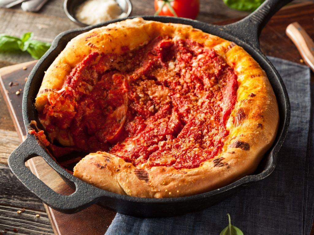 Deep Dish Chicago Pizza
