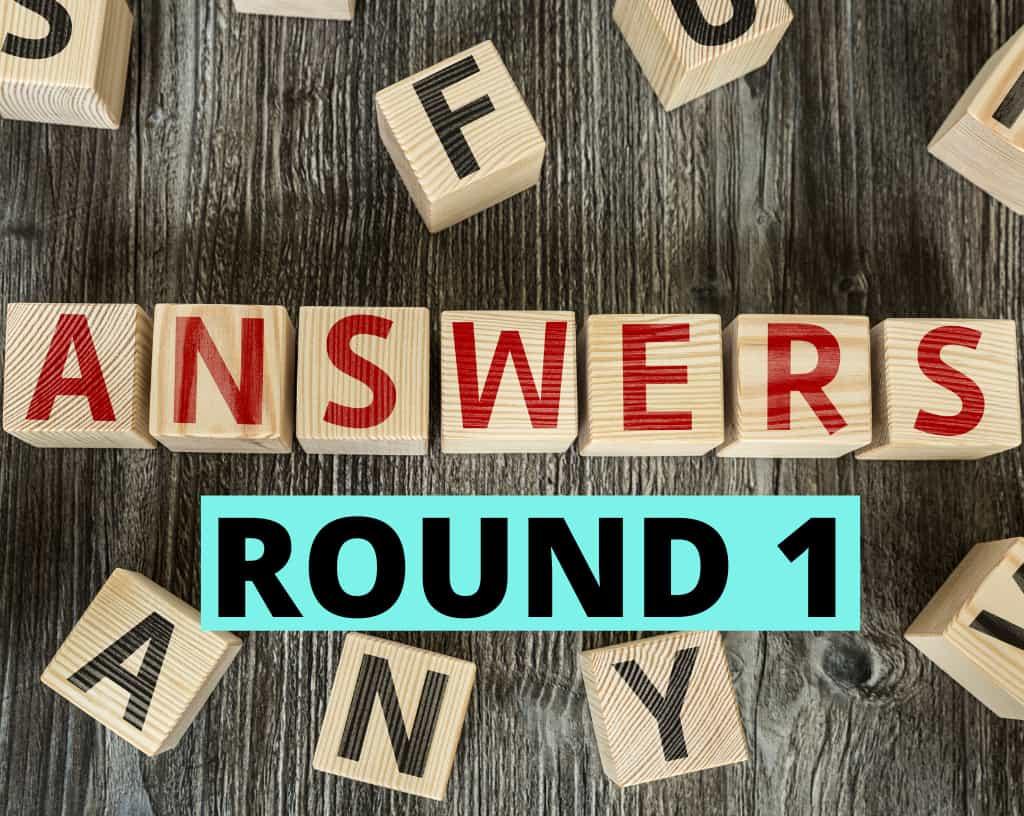 Food Quiz Answers Round 1