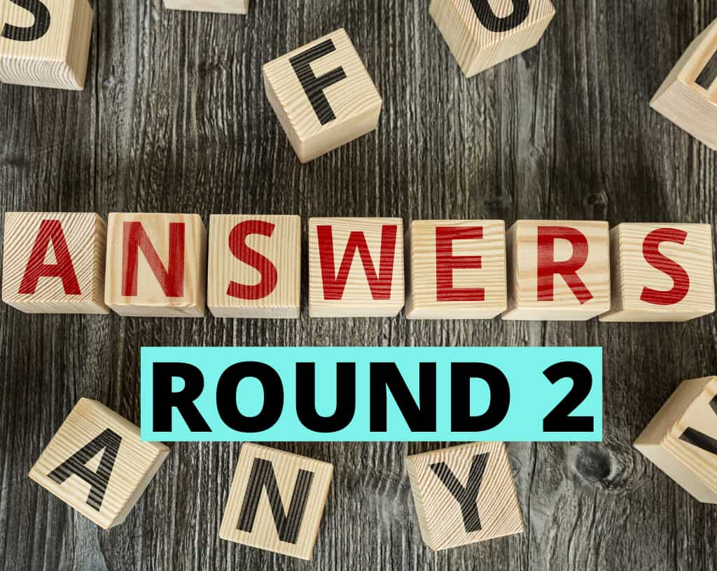 Food Quiz Answers Round 2