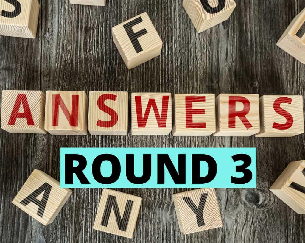 Food Quiz Answers Round 3