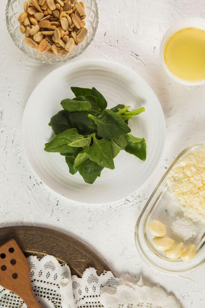 Green Pesto ingredients