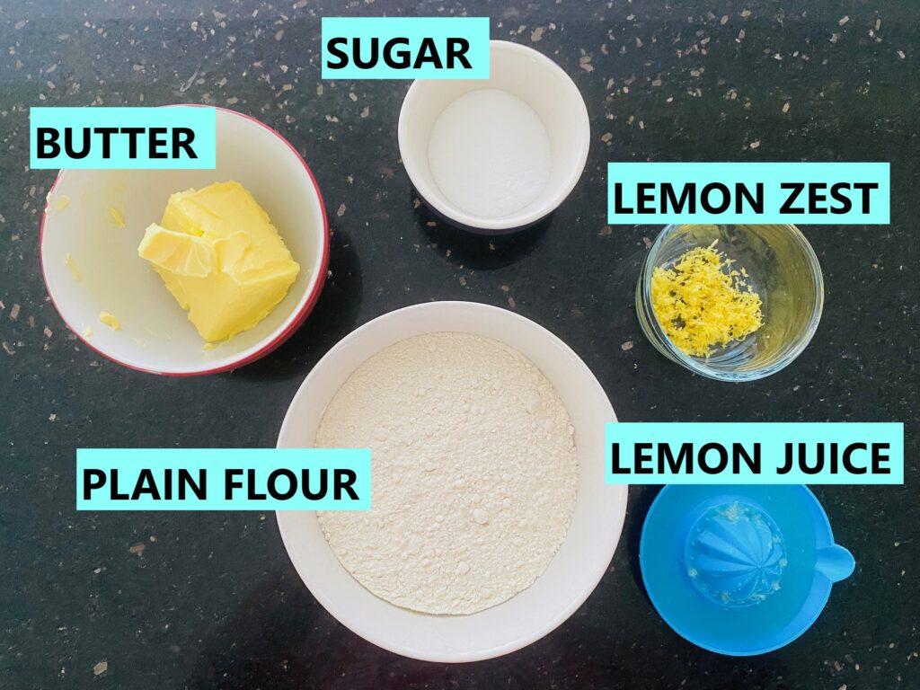 lemon shortbread ingredients