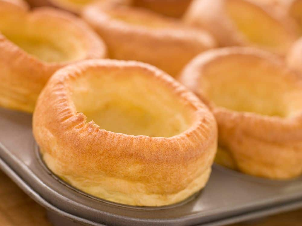 yorkshire puddings in tray