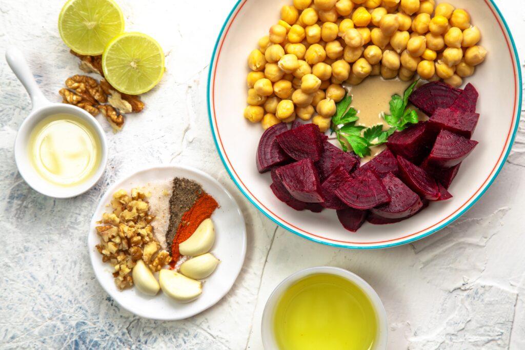 beetroot hummus ingredients