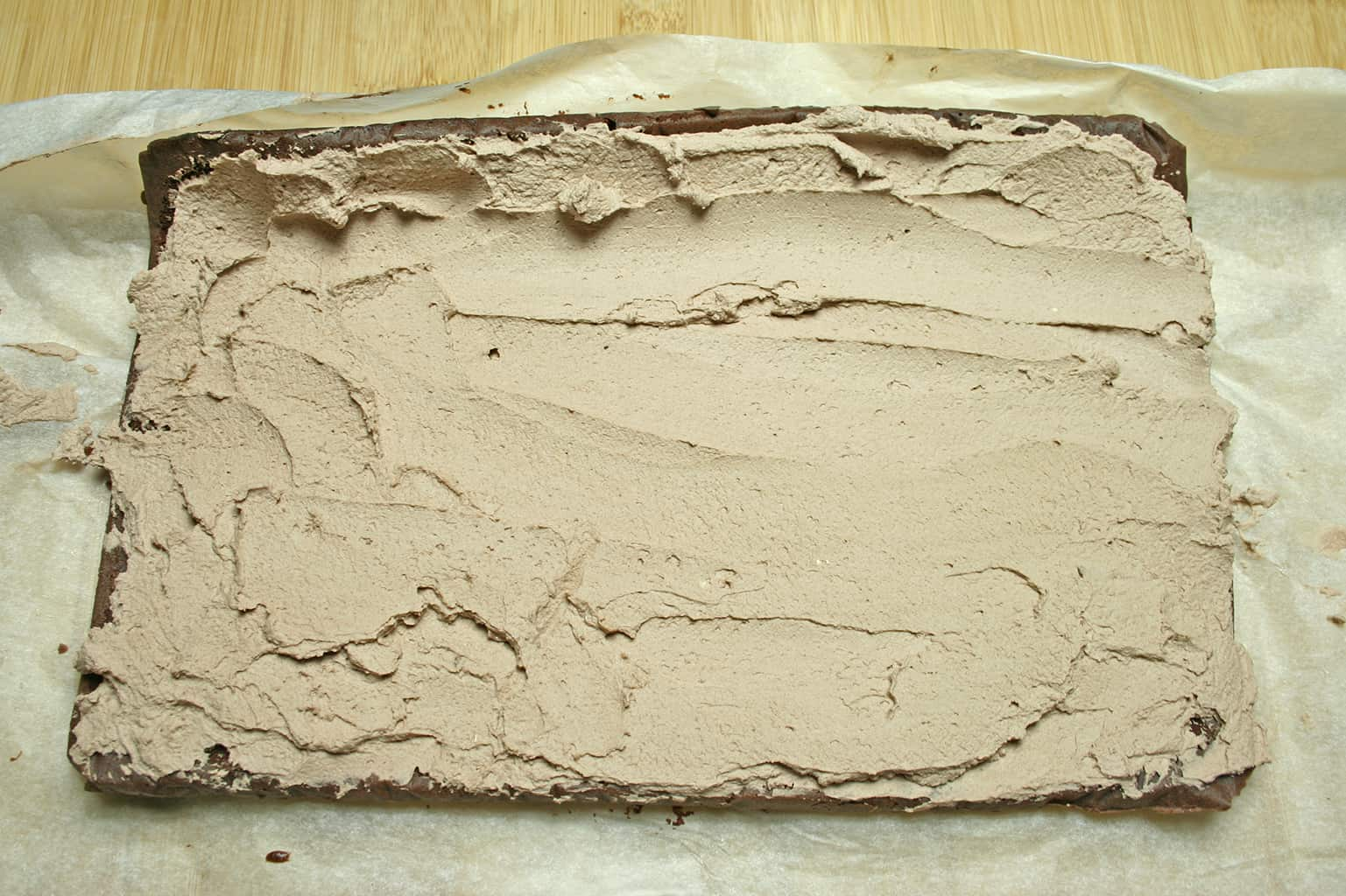 cake with cream on