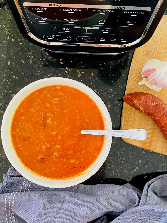 chicken and chorizo soup