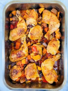 chicken and chorizo tray bake
