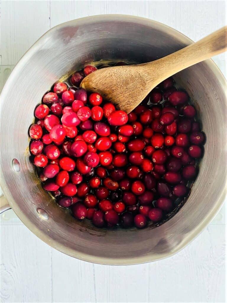 cranberry in saucepan