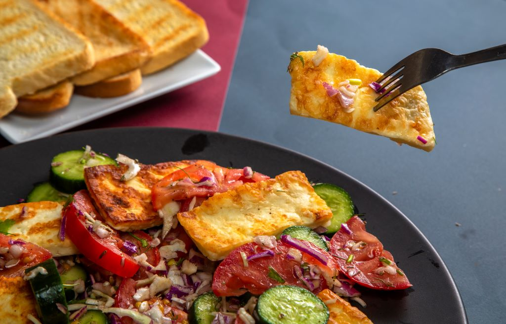 halloumi salad recipe