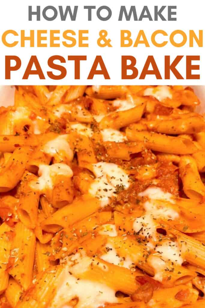 bacon and cheese pasta bake