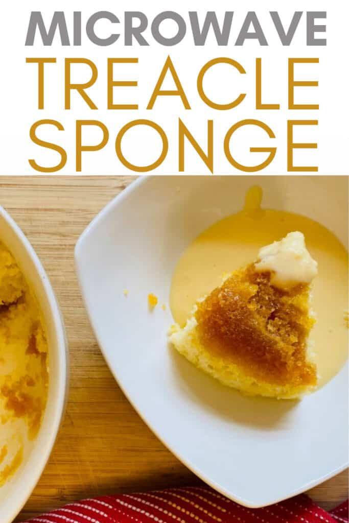 microwave treacle sponge
