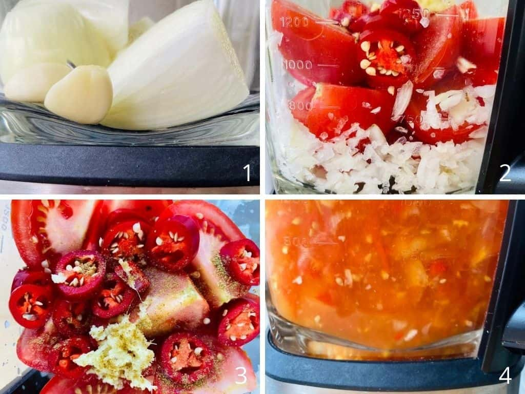 step by step images to make spicy tomato soup