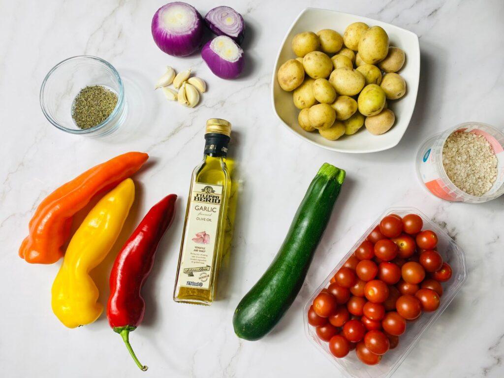 ngredients roasted mediterranean vegetables