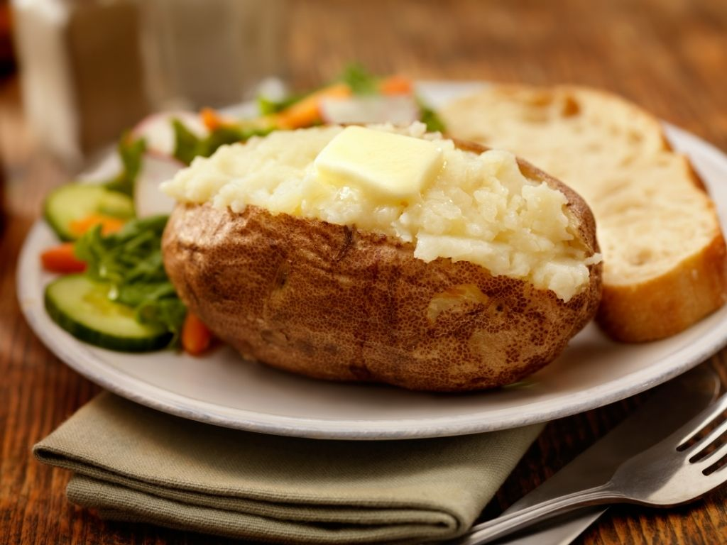 jacket potato with butter