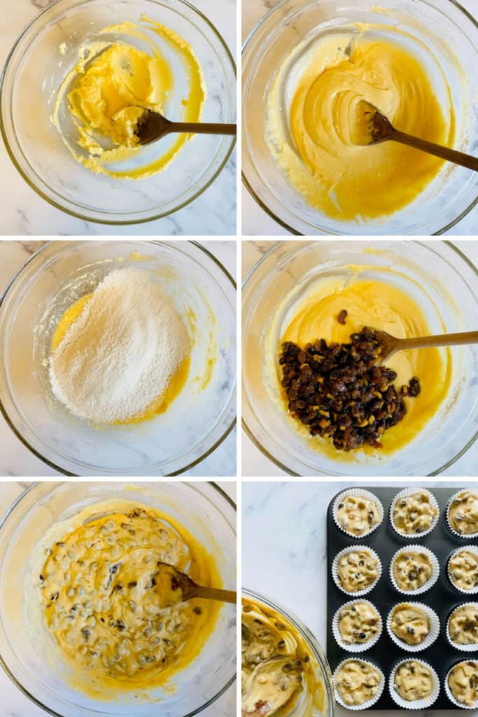 step by step mincemeat cupcakes
