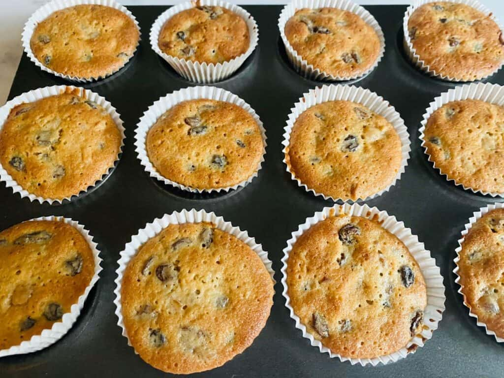 mincemeat cupcakes from oven