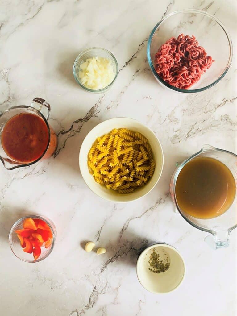 pasta bolognese soup maker ingredients