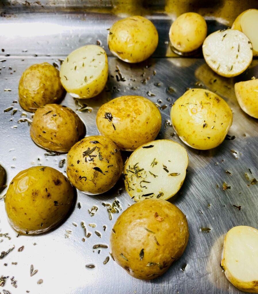 roasting new potatoes