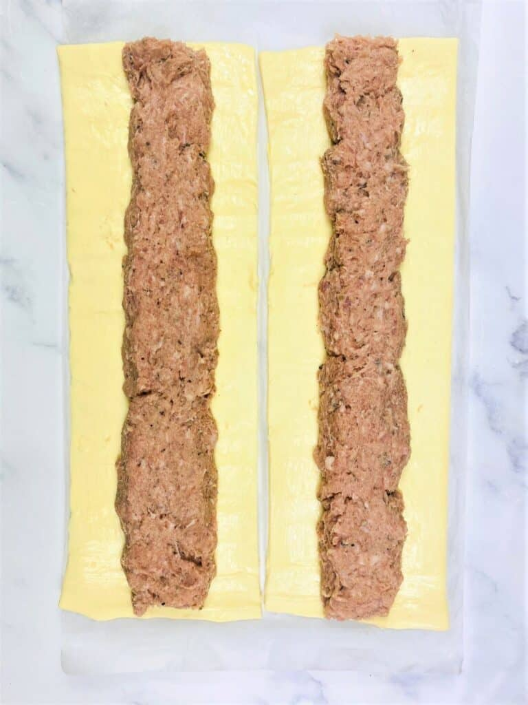 sausagemeat in puff pastry