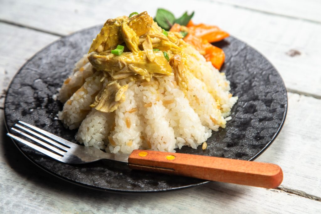 slow cooker honey and mustard with rice