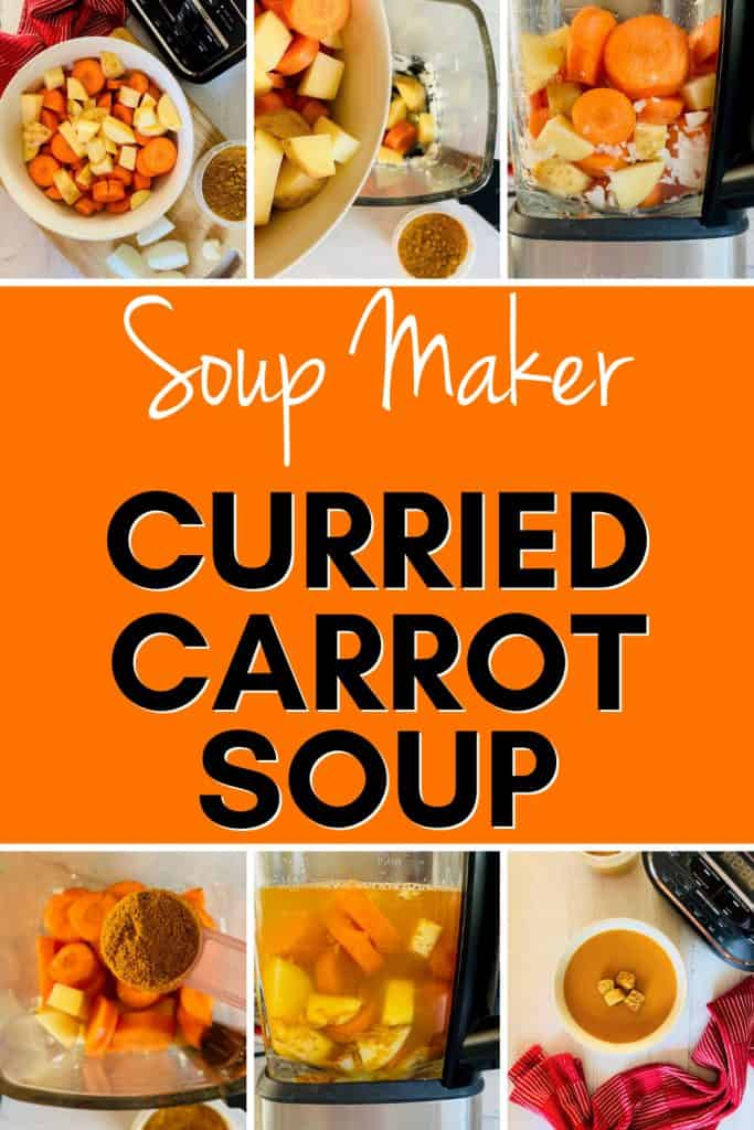 step by step photos to making spiced carrot soup in a soup maker